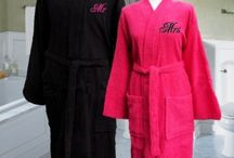 Personalised Robes / Bathrobes and dressing gowns personalised with embroidered names, nicknames or monogrammed initials.  a special gift made for you by www.amysgifts.co.uk