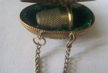 Small Antique Treasures / Antique sewing equipment, jewellery etc.