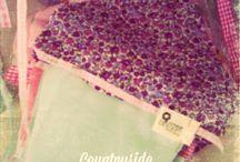 My work - Handmade fabric christening decoration