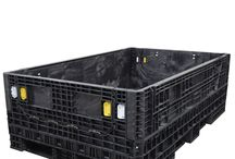 """78 x 48 Bulk Containers / 78 x 48 bulk containers are extended length bulk containers available in 25"""" and 34"""" heights. Specifically designed to handle long and hard-to-fit components, these containers can be stacked either fully assembled or collapsed for out-of-the-way storage. 78 x 48 bulk containers have a weight capacity of 1,500 pounds."""
