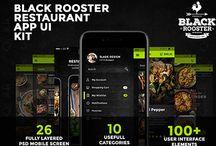 Black Rooster restaurant App Design
