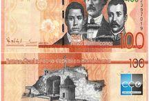 Billets République Dominicaine / La devise officielle de la République Dominicaine est le Peso Dominicain. Les billets de banque République Dominicaine en circulation sont :  20, 50, 100, 200, 500, 1000 et 2000 DOP.  En 2014, un nouveau billet a été mis en circulation.