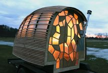 BARNS-CABINS-TREEHOUSES-TINY SPACES / by Amy Erwin