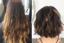 Cabelo antes e depois / Do cabelo escuro ao platinado total, do loiro ao azul ou verde, do cabelo virgem às luzes discretas, confira uma seleção de inspirações para quem desejar atualizar o visual!