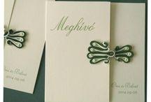 esküvői meghívók az Amaltheia Manufaktúránál