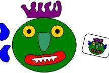 Va t en monstre vert / activite autour un album ( maternelle)