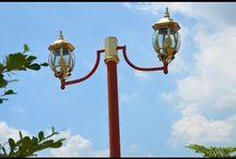 Lampu Taman / Lampu Taman Cast Iron (besi cor) berdesain antik dan kualitas premium