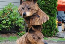 træ skulptur