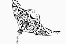 Татуировки на тему океана и полинезии