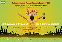 MKC Warrior / MKC (P) Ltd. has started a unique Scholarship & Talent Search programme by the name of MKC Warrior to reward the Meritorious and extra ordinary students who have enrolled themselves for various front line courses IX, X, XI, XII, NDA Foundation, Board Exam Prep, NDA, AF & NAVY & IIT -JEE (MAINS & ADVANCE) & Spoken English Courses, Computer Courses.