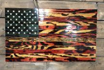 American Series - Handmade Wood Flags