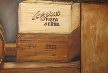 Luigina's Pizza & Grill / Murals and faux finishes created for an Italian themed Pizza & Grill in Fort Myers, Fl