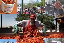 Rajun Cajun Crawfish Festival / The City Auto Rajun Cajun Crawfish Festival is an annual event in April featuring over 15,000 lbs of crawfish, carnival food, zydeco music, games, art vendors, and more. This is a free event in downtown Memphis benefiting Porter-Leath.