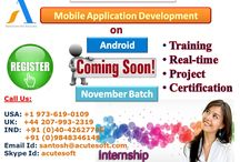 Register for Intern-ship on Mobile Application Development with Android Platform from AcuteSoft