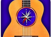 """GuitarChordsCompass / Find the perfect chord voicing for your songs! Thanks to a specially developed algorithm, the app will show you chord diagrams with all possible options in all 11 positions of the guitar fretboard. Simply select a chord root on the left, chord type in the middle, the chord type addition on the right, and explore the chords with """"Guitar Chords Compass""""!"""