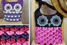 Owls, mostly crocheted