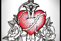 coeur poignardé
