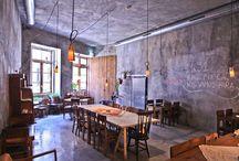cafes, bares y tiendas