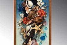 Kagyló dekor