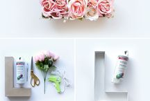 From flowers / Letters, walls, decor