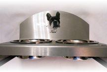 Filou Design / Individuelle Unikate aus Edelstahl. French Bulldog- Französische Bulldoggen- Frenchi  XL Hängeschilder - Foodbutler-Leinenhalter-Dogtags/Schilder etc mit Fotolasergravur