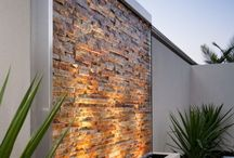 Outdoor wall stone lighting