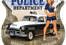 Police and Fire Man Cave Decor  / A selection of items for a Police and Fire themed man cave from: http://www.mancavekingdom.com/category/police-and-fire-man-cave-decor.html