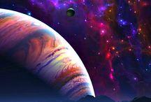 Космос, звезды,  галактики и т.д.
