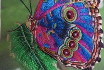 textile art / embroidery, print and stitch inspiration
