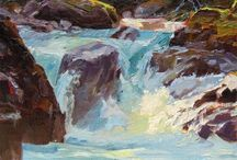 Water / Paintings featuring water; any kind, such as the sea, rivers, lakes, floods...if it's wet it will be here.