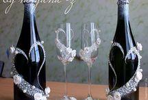 copos e garrafas