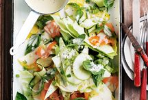 Salade courgettes ananas etc...