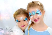 Face painting Frozen & Christmas