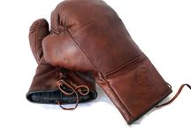 MVP Handmade Leather Boxing Accessories / Luxury vintage inspired leather boxing accessories by The Modest Vintage Player.