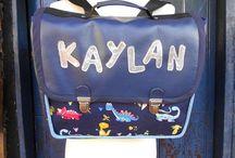 """Cartables - School bags / Cartables personnalisés par """"Les Sacs de Génie"""" Schoolbags made by """"Les Sacs de Génie"""""""