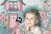 Sewphie and Friends Digital Scrapbooking Collection by Kathryn Estry / SEWphie is a sweet little sewing pixie, and she's here with her friends to decorate your scrap pages.  The page kit is loaded with sewing notions and features Sewphie and Stitches, Crafty Cathy has a pack with her craft supplies, and Annie is shown at home surrounded by her favorite hobby pieces.  All 3 of these pack as well as the additional papers and extra element packs are also loaded with plenty for those pages that aren't about sewing or crafts.