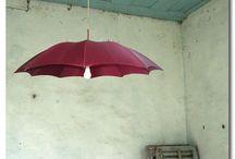 Riutilizzare vecchi ombrelli / Esempi creativi per riutilizzare e riciclare ombrelli rotti, dalle aste ai manici.