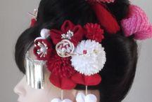 成人式和装髪飾り・出張着付ヘアメイク / ブライダル・ベルLuck制作の成人式の和装髪飾りです。 もりや着付教室の出張着付け・ヘアメイク(埼玉県・東京都)とコラボもしております。