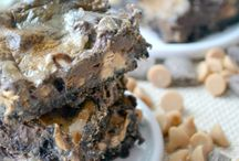 Peanut butter mud bars