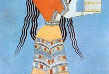 Aegean civilizations costume