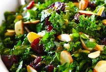 kale almond salad / by Dolores Rojas