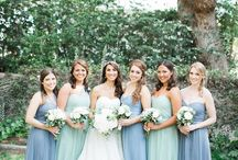 Dusty Blue, Sage and Grayed Jade Wedding Color Inspirations