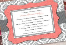 Wedding Color Combos - Gray and Coral