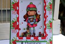 Cards_Thank You / Thank you theme cards made using Whimsie Doodles digital stamps