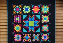 Quilts with black background