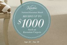 National Karastan Month - Fall 2014 / It's National Karastan Month from September 24 - November 10, 2014, where you can receive a $1,000 coupon towards a new Karastan carpet, and some of the lowest prices of the season! This board features a sampling of some of our luxurious carpets. Check with your local Karastan retailer for discount pricing & special financing, and visit http://www.karastan.com/sale for details  / by Karastan Carpet