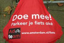Zadelhoesjes per stad / Diverse gemeentes laten regelmatig zadelhoesjes maken ter communicatie met de fietsers in hun stad. Bestel zelf goedkoop zadelhoesjes via www.zadel-hoesjes.nl