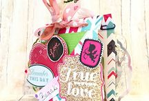 scrapbooking box and other creations / scrapbooking exploding box