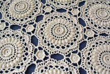 crochet médaillon blanket