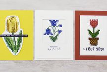 ART Cards with Cross Stitch